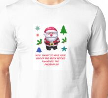 A SANTA CLAUS GREETING CARD  Unisex T-Shirt