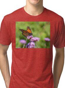 Autumn Beauty! - Monarch Butterfly - Otago - NZ Tri-blend T-Shirt