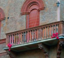 Red brick facade of building in Bologna, Italy Sticker