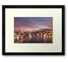 Sunset on the Thames - London Framed Print