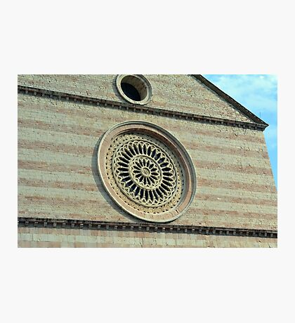 Rosette from church in Assisi, Italy Photographic Print
