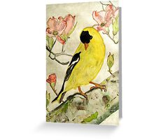 A Goldfinch Spring Greeting Card