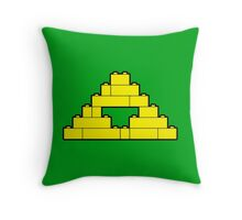 A Brick to the Past Throw Pillow