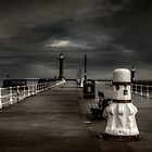 Whitby Pier by Sandra Anderson