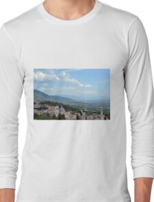 View of the hills and city of Assisi, Italy Long Sleeve T-Shirt