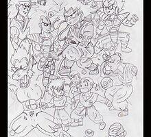 A bunch of superheroes by Riekert Maritz (Krog)