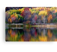 Autumn Sprinkle at Rose Valley Lake Metal Print