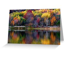 Autumn Sprinkle at Rose Valley Lake Greeting Card