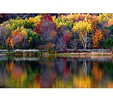 Autumn Sprinkle at Rose Valley Lake Photographic Print