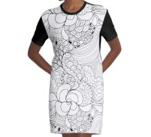 Abstract zen pattern Graphic T-Shirt Dress