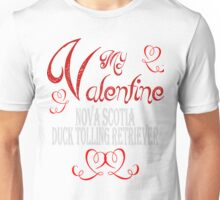 A Valentine Shirt with Nova Scotia Duck Toller Unisex T-Shirt