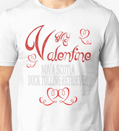 A Valentine Shirt with Nova Scotia Duck Toller Unisex T-Shirt