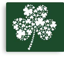 St Patrick's Day Irish Shamrock Clover Canvas Print