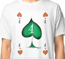 Lucky No.4 of Spades by Tony Fernandes Classic T-Shirt