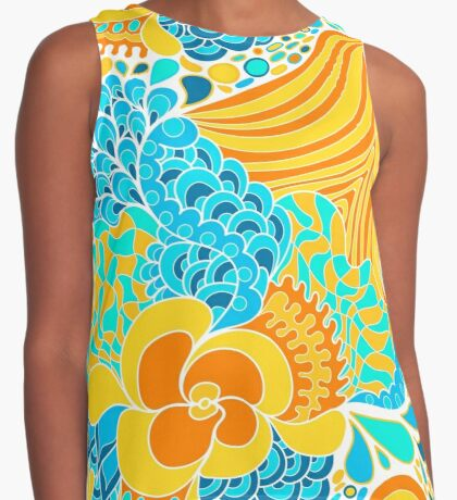 60s hippie abstract print Contrast Tank