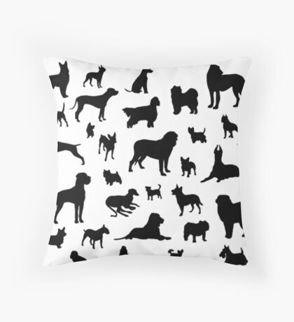 ALL the dogs Throw Pillow