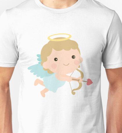 Cute Cupid Angel Halo Wings Bow Arrow Valentine Gift Unisex T-Shirt