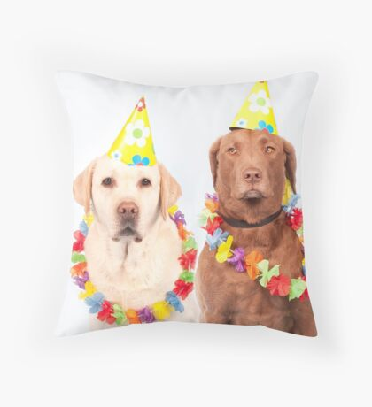 Party pups Throw Pillow