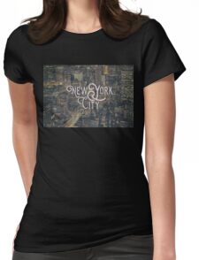 New York City Photo Typography Cool Vintage Design Womens Fitted T-Shirt