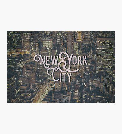 New York City Photo Typography Cool Vintage Design Photographic Print