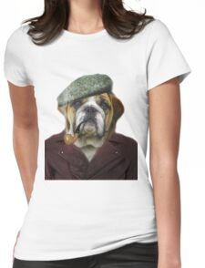 Hipster Dog Pet Animal Womens Fitted T-Shirt