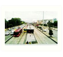 The mobility of the city. Art Print