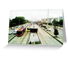 The mobility of the city. Greeting Card