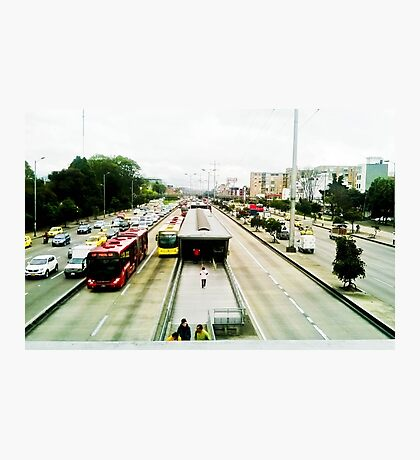 The mobility of the city. Photographic Print