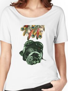 Dog Pet Hipster Animal Women's Relaxed Fit T-Shirt