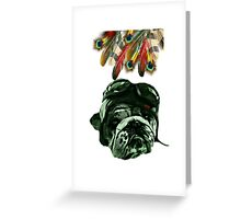 Dog Pet Hipster Animal Greeting Card