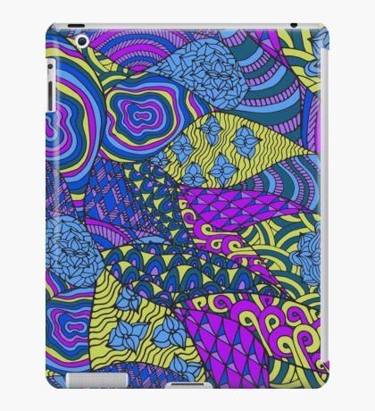 60s hippie abstract print iPad Case/Skin