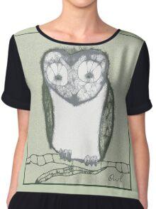 Scribbler-Owl Chiffon Top