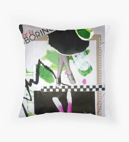 Nice is boring. Throw Pillow