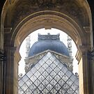 Pyramid At The Louvre ( 2 ) by Larry Lingard-Davis