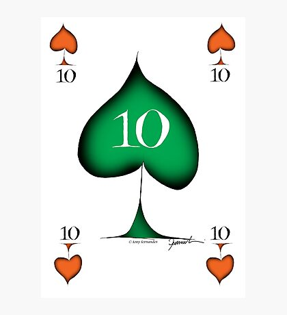 Lucky No.10 of Spades by Tony Fernandes Photographic Print