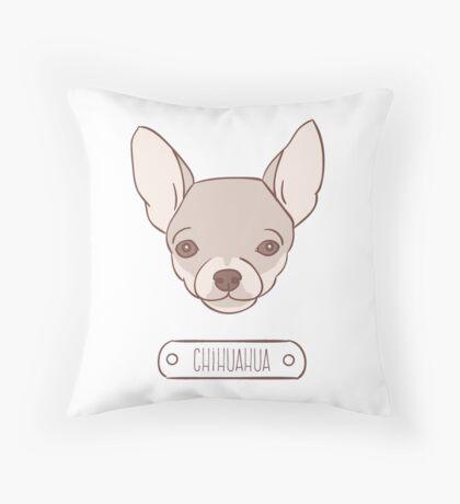 Chihuahua.  Throw Pillow