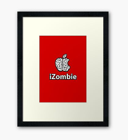 Apple iZombie -white- Framed Print