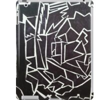 Edgy Black and White Design  iPad Case/Skin