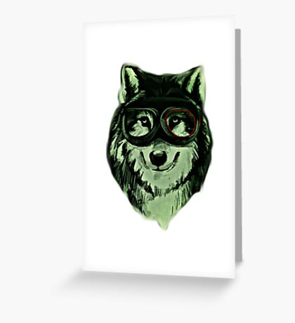 Wolf Hipster ANimal Wolves Greeting Card