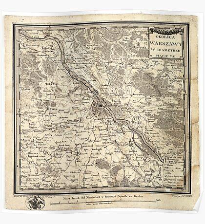 Plan of Warsaw - 1783 Poster