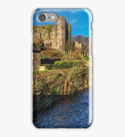 Brecon Castle Above The River Honddu iPhone Case/Skin