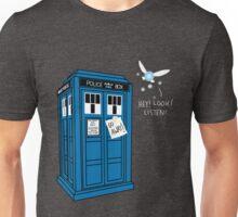 Hey! Look! Listen! Who? Unisex T-Shirt