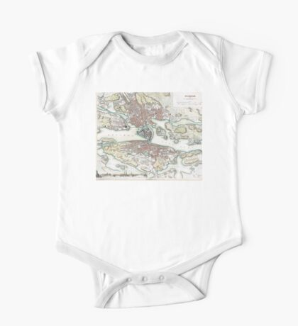 Plan of Stockholm - 1836 One Piece - Short Sleeve