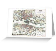Plan of Stockholm - 1836 Greeting Card