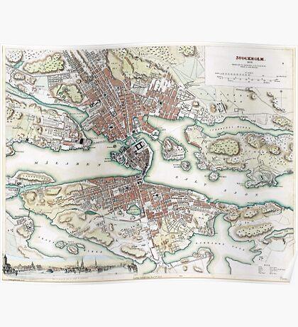 Plan of Stockholm - 1836 Poster