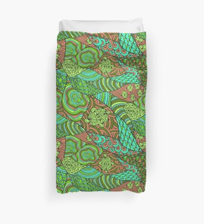 60s hippie abstract print Duvet Cover