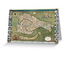 Plan of Venice - 1740 Greeting Card