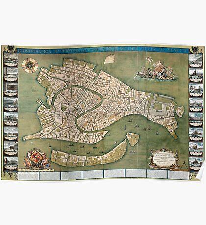 Plan of Venice - 1740 Poster