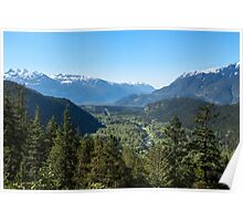 View from the Tantalus Lookout Poster