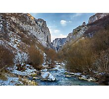 River in mountain pass Photographic Print